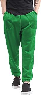 Mens Fleece Sweatpants Lightweight Elastic Jogger Loss Fit Drawstring Pants