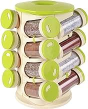 SHOPPERWORLD Revolving Spice Rack 16 in 1 Jar Spice Rack Set/Masala Rack Set/Condiment Set, Polyproplene Plastic Spice Container (Set of 16 Jars)
