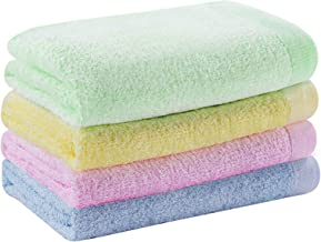 """YOOFOSS Hand Towels Bamboo Face Washcloths Towel Set for Bathroom-Kitchen-Hotel-Multi-Purpose, Ultra Soft, Absorbent, 13\""""..."""
