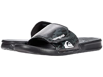 Quiksilver Bright Coast Adjustable Slides (Grey/Black/Black) Men