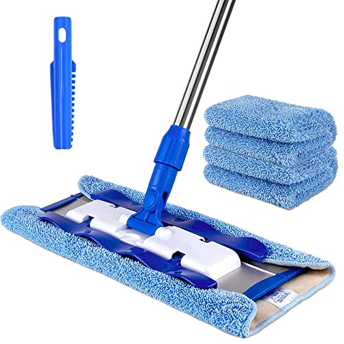 SIGA Professional Microfiber Mop for Hardwood, Laminate, Tile Floor Cleaning, Stainless