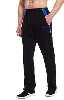 ZENGVEE Men's Sweatpants with Zipper Pockets Open Bottom Athletic Pants for Jogging, Workout,...