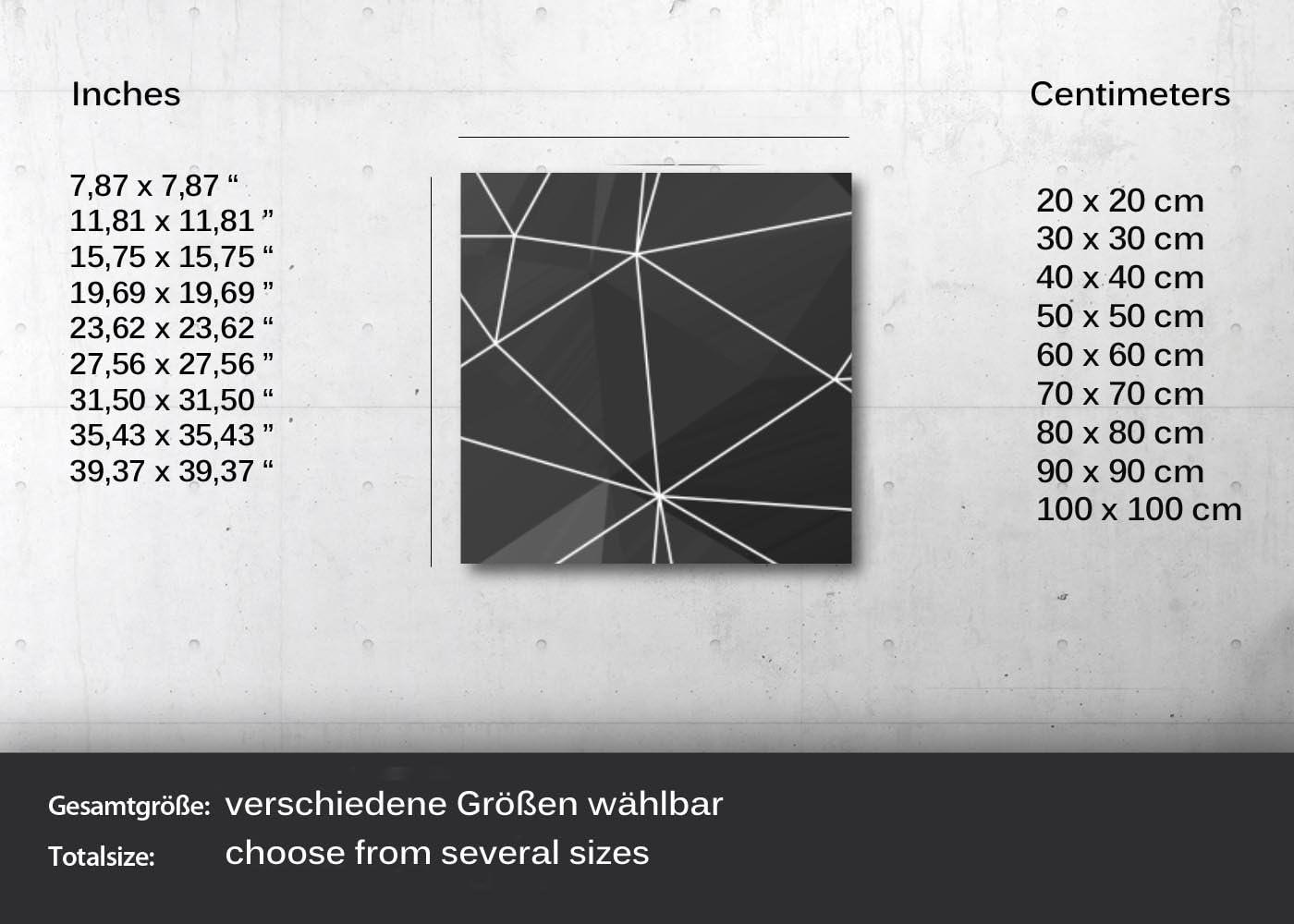 kunst-discounter Husky Welpen Wandbild A06212 Canvas Leinwandbild quadratisch auf Keilrahmen Gr/ö/ße 20 x 20 cm
