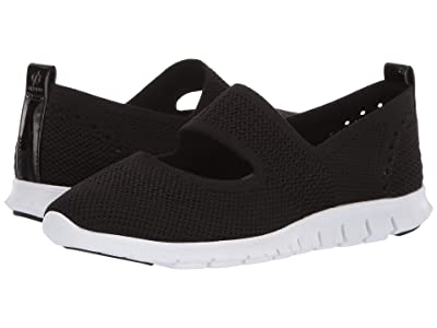 Cole Haan Zerogrand Stitchlite Cut Out Slip-On (Black Knit/Optic White) Women