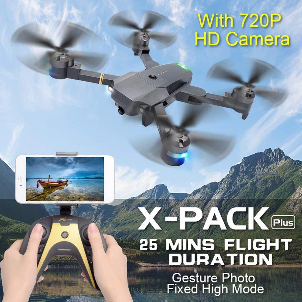 FDBF XT-1 WiFi FPV 720P HD Camera Folding Gravity VR Mode RC Drone Quadcopter: Amazon.es: Hogar