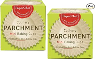 (2 Pack) Mini Paper Cupcake Liners / Baking Cups, 90-ct/Box