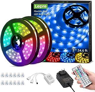 Lepro 50ft LED Strip Lights, Ultra-Long RGB 5050 LED...