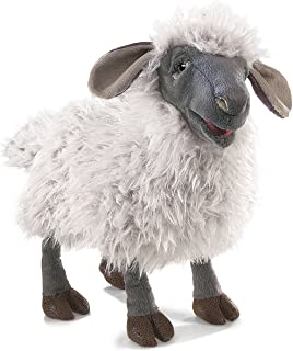 Folkmanis Bleating Sheep Hand Puppet Plush, Gray/Multicolor