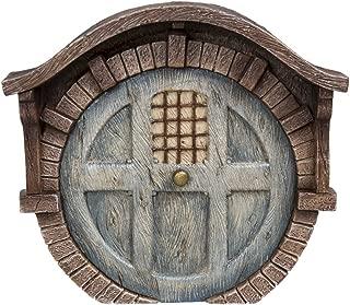 Pacific Giftware Miniature Fairy Garden of Enchantment Fairy Gnome Hobbit Brick House Door 4 Inches