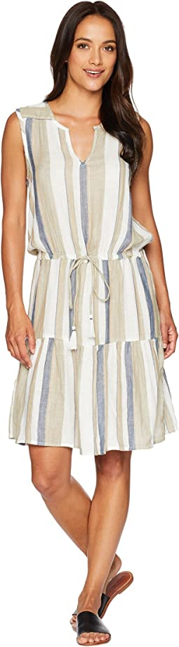 Elsa Stripe Sleeveless Tie Dress