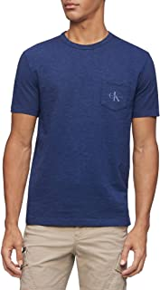 Men's Short Sleeve Casual Pocket Logo Monogram T-Shirt