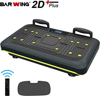 BARWING Vibration Platform, Whole Body Workout Vibration Fitness Machine, Push Up Bars, Home Training Equipment for Body Shape&Massage