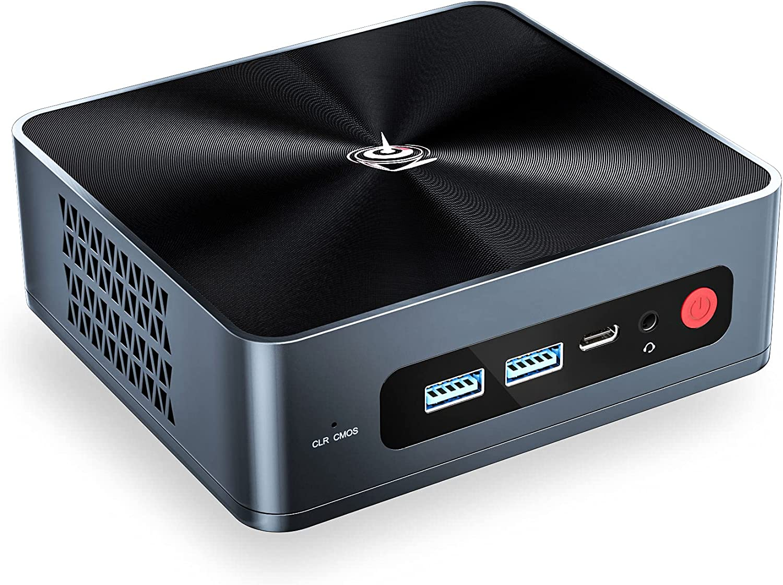 Beelink Versatile Mini PC 4 Cores 8th gen Intel i5-8279U(Up to 4.1GHz) Mini Computer 16GB RAM 512GB NVMe SSD,Windows 10 Pro Small Profile Quiet Mini Desktop Computer, Support 4K Dual HDMI,WiFi, win11
