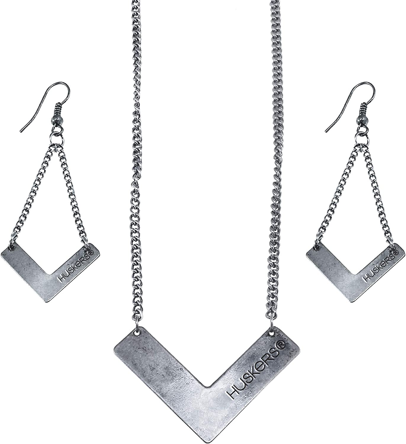 Littlearth NCAA Chevron Necklace and Earring Jewelry Suite