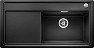 Blanco 铂浪高 ZENAR XL 6 S DampfgarPlus 厨房水槽, Silgranit PuraDur花岗岩水槽,包含玻璃切菜板,1件,无烟煤黑,521227
