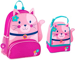 Stephen Joseph Girls Cat Backpack and Lunch Pal