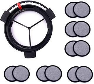 Replacement Coffee Maker Water Filtration Set Filter Disk with Frame for Mr. Coffee Brewers Coffee Maker (1Disk Frame +12 Filter Disks)