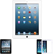 HDE Touch Screen Digitizer for iPad 2-2nd Generation iPad Front Glass Replacement with Home Button & Tool Kit - White