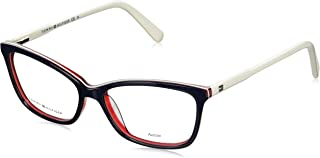 Tommy Hilfiger Plastic Rectangular Eyeglasses 52 0VN5 Blue Red White