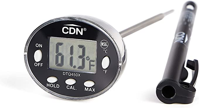 CDN DTQ450X Thin Tip Thermometer - Best Stainless Steel Probe