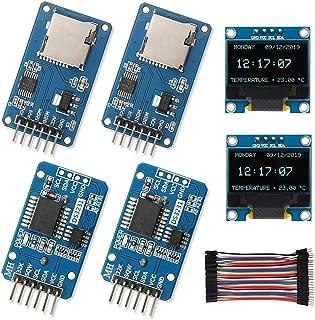 WayinTop Real Time Clock Kit, 2pcs DS3231 AT24C32 IIC RTC Clock Module + 2pcs Micro SD Mini TF Card Adapter Reader Driver...