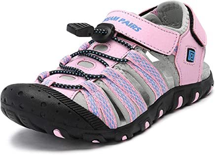 DREAM PAIRS Boys & Girls Toddler/Little Kid/Big Kid Closed-Toe Outdoor Summer Sandals