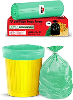 Shalimar Premium OXO - Biodegradable Garbage Bags (Large) Size 60 cm x 81 cm 4 Rolls (60 Bags) (Green Color)