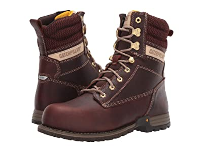 Caterpillar Clover 8 Steel Toe (Tawny Full Grain Leather) Women