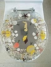 Daniel's Bath & Beyond Polyresin Round Seahorse Toilet Seat, 17