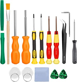 #N/A Repair Kit for Switch, 17in1 Professional Full Security Screwdriver Game Bit Repair Tool Kit for Switch 3DS/2DS XL NE...