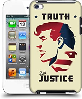 Official Superman DC Comics Truth and Justice Character Art Hard Back Case Compatible for Apple iPod Touch 4G 4th Gen