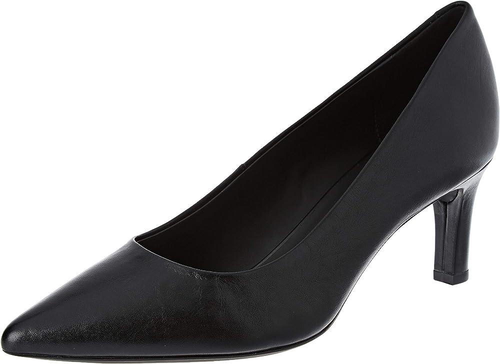 Geox d bibbiana a, scarpe con tacco donna in pelle D829CA00021