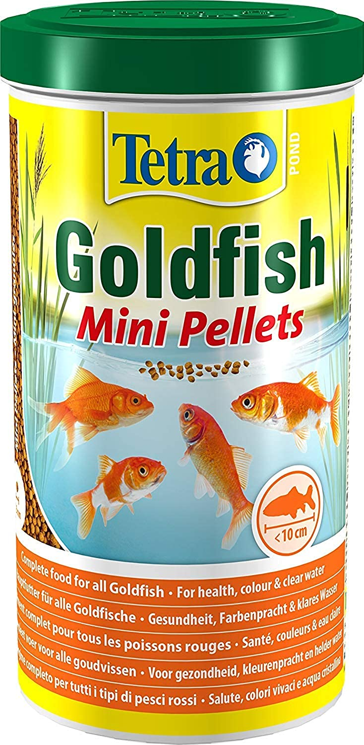 3XPond goldfish Mini Pellet Food, Complete Fish Food for All goldfish, 1 Litre