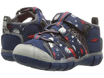 Keen Kids Seacamp II CNX (Toddler) (Blue Opal Space/Glow) Boys Shoes