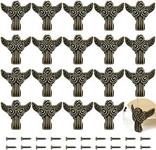 صندوق مجوهرات من 20 قطعة من PGMJ بتصميم ريترو للساقين صندوق مزخرف لأجهزة خشبية كلاسيكية، وصناديق المجوهرات، وصناديق الهداي...