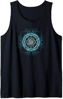 Shri Yantra Lotus Buddhism Meditation Sacred Geometry Zen Tank Top