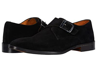 CARLOS by Carlos Santana Freedom Monk Single Strap (Black Calfskin Suede) Men