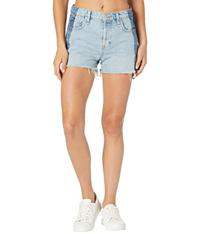 Hudson Jeans Reconstructed Indigo High-Rise Lori Shorts in Bold Blue