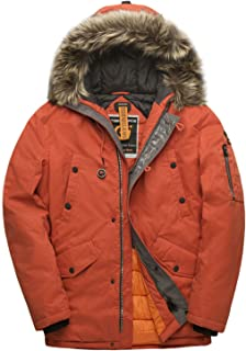 Parka Coat Winter Men Waterproof Hooded Jacket Quilted Ski Snowjacket Extremely Cold