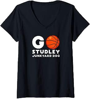 Womens Go Studley Fan Junkyard Dog Apparel Jared Basketball Dudley V-Neck T-Shirt