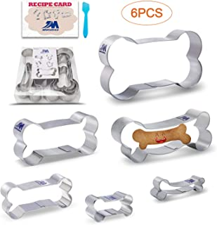 Dog Bone Dog Biscuit cookie cutters set for Homemade Treats,6 piece set Boxed package.stainless steel,straight 5