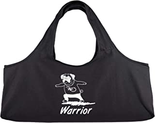 YogaPets Exercise Fun Yoga Mat Tote Bag | Large Mat Carrier with Strap & Side Pocket | Fits Most Size Mats