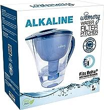 Wamery Jarra Filtradora de Agua Alcalina Ionizada y Purificada con Capacidad 2 Litros Libre de Bpa Aumenta el Nivel del Ph del Agua del Grifo, Incluye Gratis Compatible con Filtros Brita Maxtra.