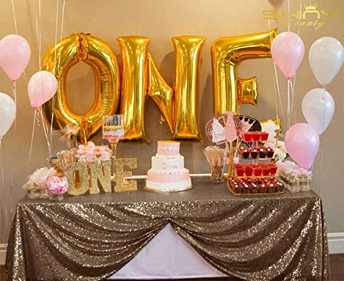 ShinyBeauty Nappe à Paillettes Chocolat 229 x 33 cm Nappe à Paillettes pour fête de Mariage CT0517