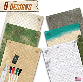 Battle Grid Game Mat - 3 Pack Double Sided 24