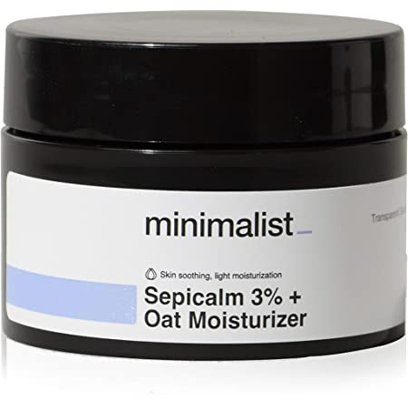 Minimalist 3% Sepicalm + Oats Moisturizer for Face | Lightweight Moisturizer For Oily, Acne Prone Skin | Non comedogenic & Fragrance free
