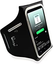 iPhone X / 10 Waterproof Running Armband with Extra Pockets for Keys, Cash and Credit Cards. Phone Arm Holder for Sports, Gym Workouts and Exercise (Small - Large Arms)