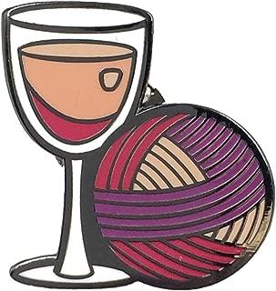 Crafty Wine Drinker Enamel Lapel Pin - Wine Drinking Pin