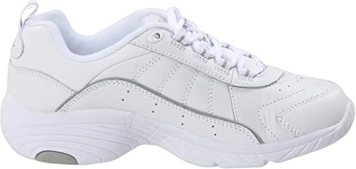 White/Light Grey Leather