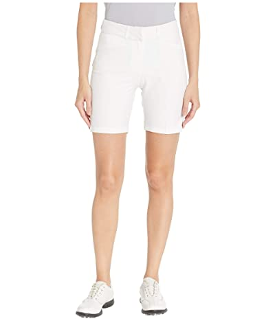 adidas Golf Club 7 Solid Shorts (White) Women